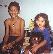 Gadoeno and Tasiana with Tasi's Sharon Doll