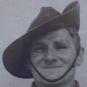 Trevor's father (Alec Michie) taken during World War II circa 1944 [7K]